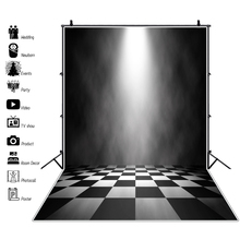 Laeacco Stage Background Abstract Shiny Light Black White Square Floor Baby Child Portrait Photo Backdrop Photocall Studio
