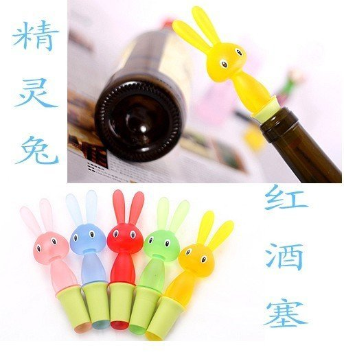 Free shipping Red wine Plug/bunny wine bottle stopper novelty red wine bottle plug