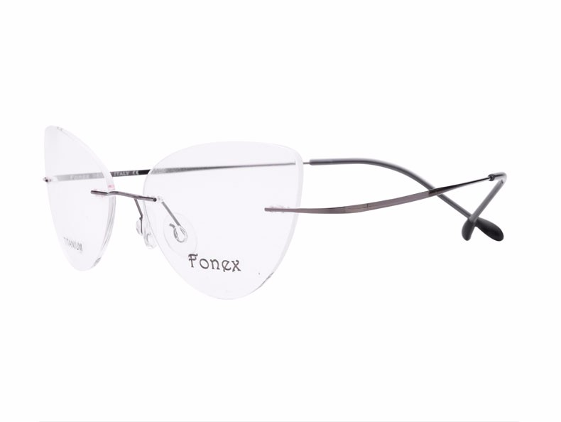 rimless women cat eye glasses silhouette fashion eyewear eyeglasses (5)