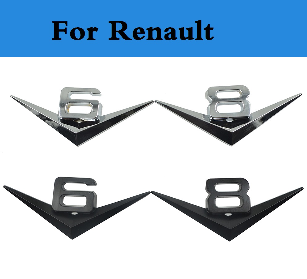 Silver Chrome 3D Metal TURBO Badge Sticker for Renault Clio Megane Laguna Twingo