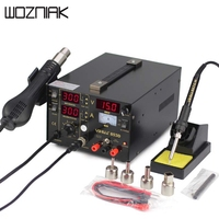 DHL Free Shipping SMD DC Power Supply Hot Air Gun Soldering Iron Rework Solder Station For SMT Welding Repair