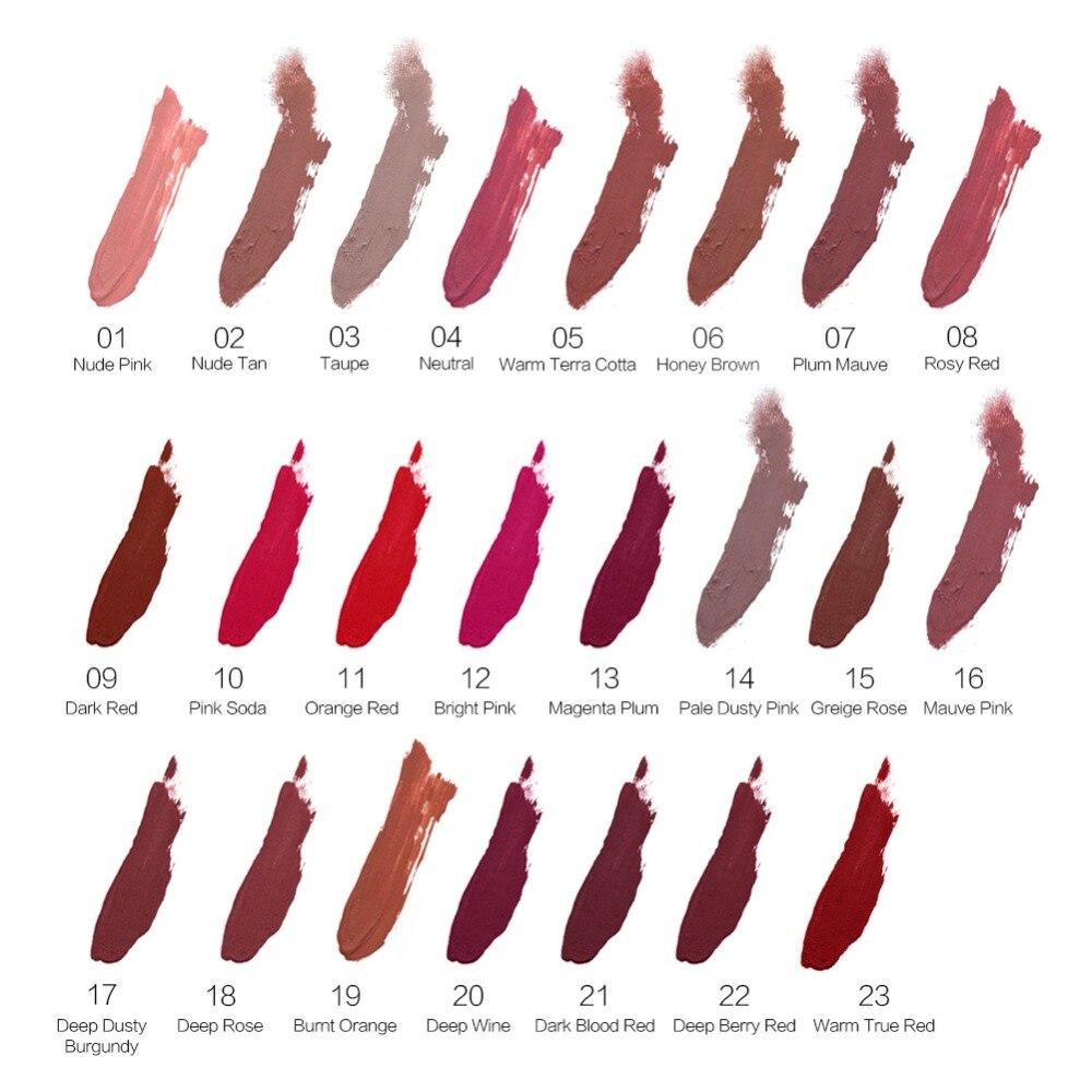 SACE LADY Matte Lipstick Makeup 23 Color Liquid Lipstick Red Nude Lip Tint Moisturizing Make Up Waterproof Long Lasting Cosmetic 4