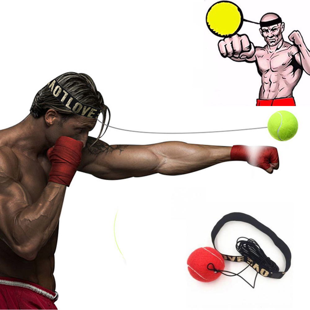 Fight Ball With Head Band For Reflex Speed Training Boxing Punch Exercise LC