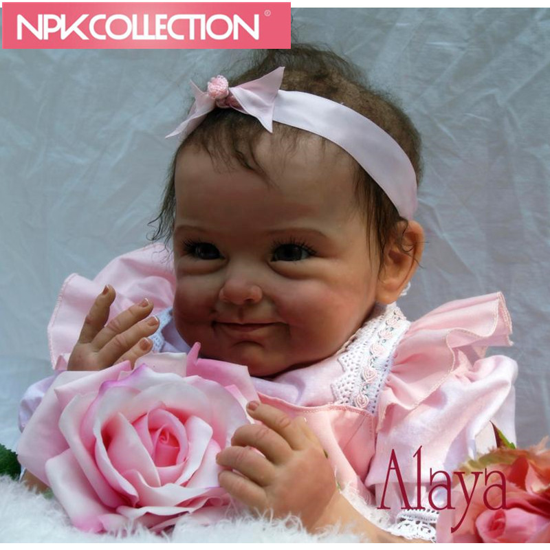 22 Inch Feborn Baby Doll Princess Girl Dolls Soft Silicone Babies Girls Lifelike Reborn Baby Doll Handmade Newborn  N145 18 inch silicone reborn soft baby dolls girl handmade vinyl doll lifelike babies princess toys children kids playmate gifts l672