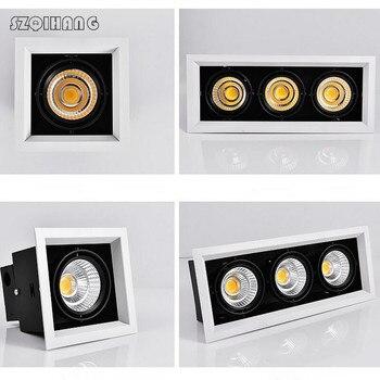 Haute qualité réglage LED COB Downlights 85-265 V 10 W 20 W 30 W LED plafond encastré lampe Spot lumière chaud froid blanc