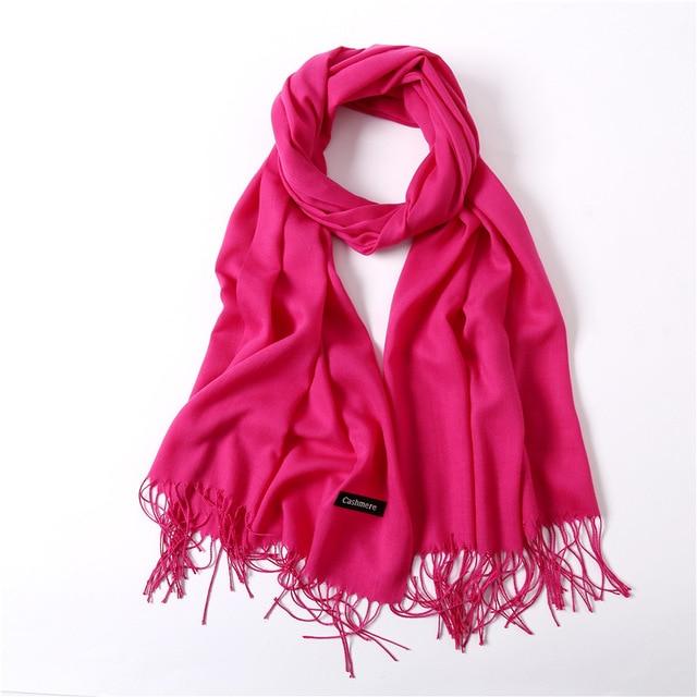 Fashion summer thin solid shawls and wraps long foulard head scarves 4