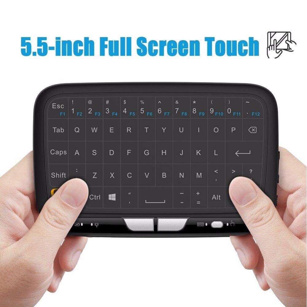 2017 nova Full Touchpad mini teclado Sem Fio de 2.4 GHz Sem Fio mini Gaming teclado Air Mouse para Smart tv box Android PC etc