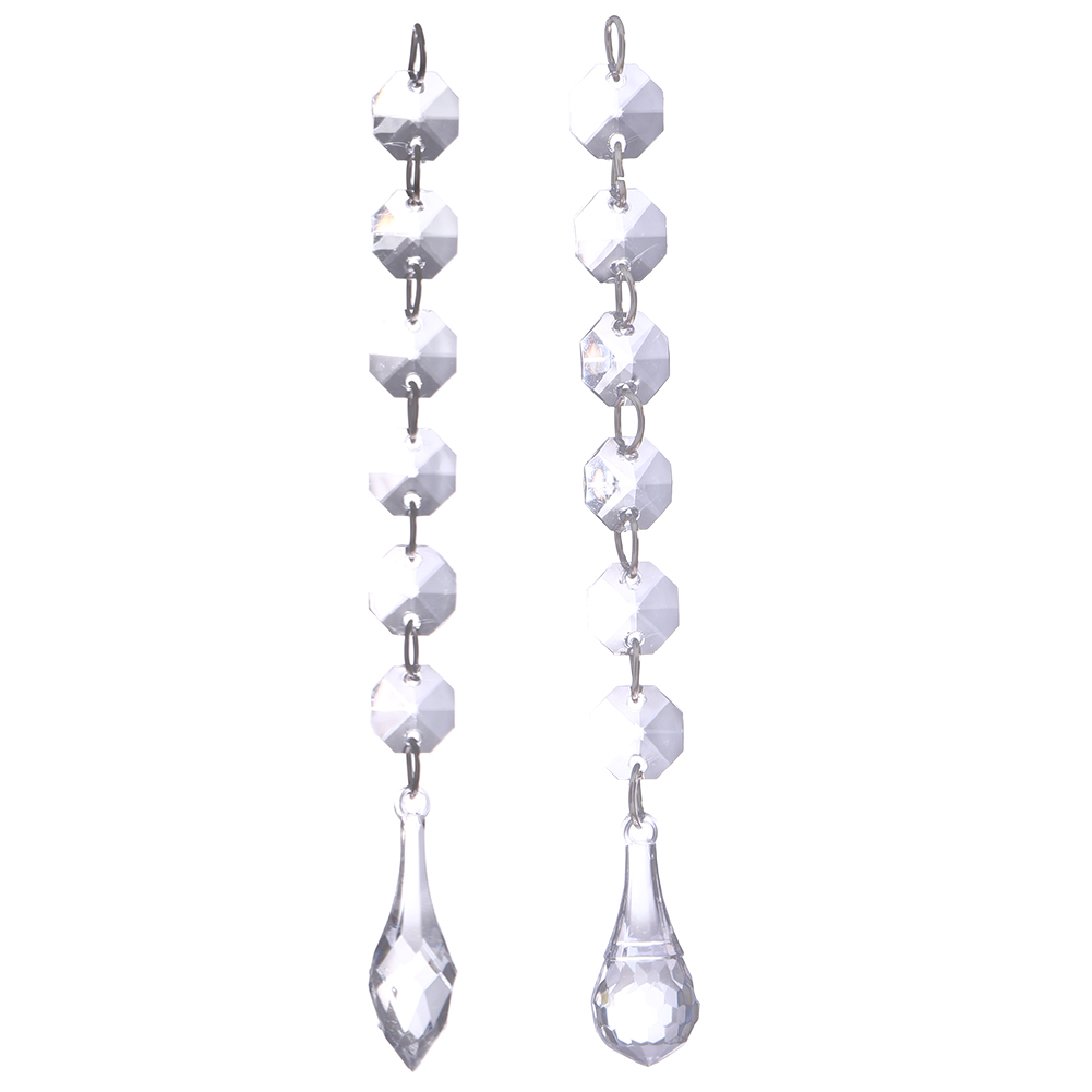 12pcs Crystal Bead Curtain Transparent Beads Pendant