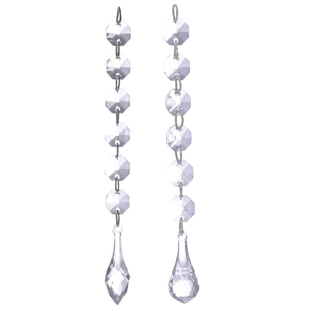 Ha hanging bead curtains for doorways - 12pcs Crystal Bead Curtain Transparent Beads Pendant Hanging Curtain Festive Wedding Decoration Curtains Home Decor