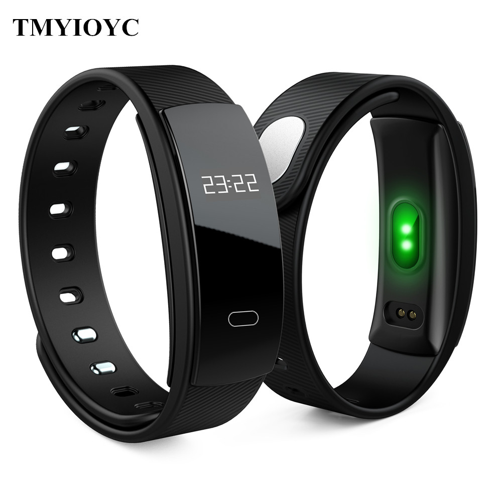 QS80 Smart Band Heart Rate Blood Pressure Sleep Monitor Wristband for IOS Android pk Y5 Z11 QS90 CK11S S3 Smart Band Bracelet