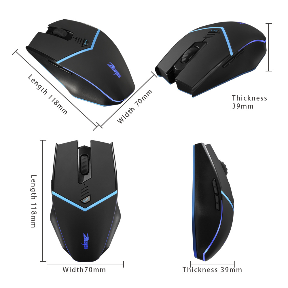Image 4 - Wireless 2.4G mouse 2400DPI wireless optical mouse left and right hand universal computer mouse  wireless gaming mouse-in Mice from Computer & Office