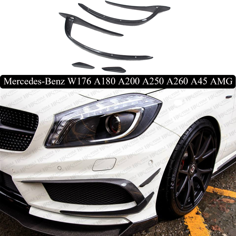 Front Lip Carbon Fiber Front Lip Spoiler For Mercedes-Benz W176 A45 AMG 2013.2014.2015.2016.2017 Free shipping!