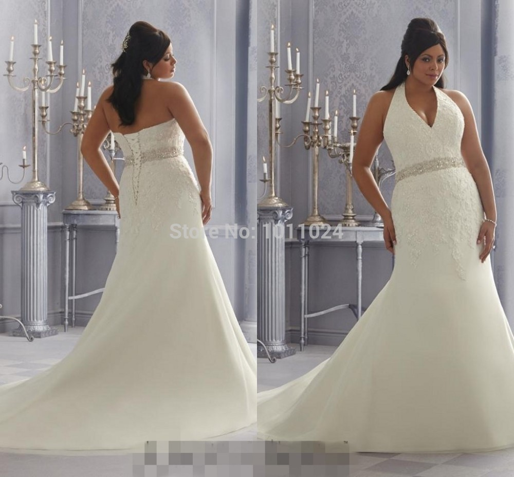 Us 127 75 30 Off Custom Sexy Backless Halter Mermaid Wedding Dress Big Yards In 2019 Smearing The Bridal Gown Beaded Flounced Skirt In Wedding