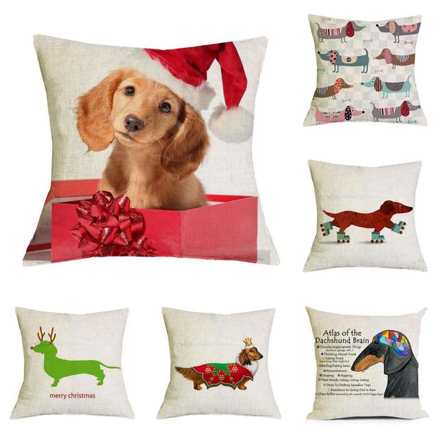 new design merry christmas dog pillow cushion christmas decorations santa claus accessories 45x45cm christmas gift