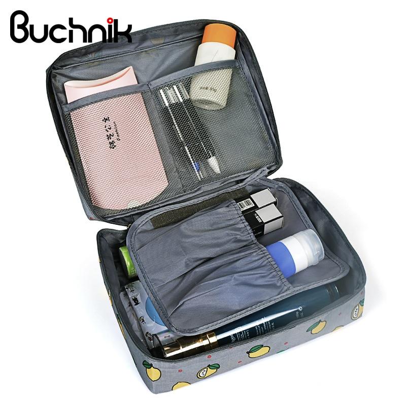 4437d3b7c94d6 Las mujeres de viaje bolsas de cosméticos belleza vanidad necesario bolsa  neceser Wash Bra ropa interior maquillaje caso organizador de accesorios ...