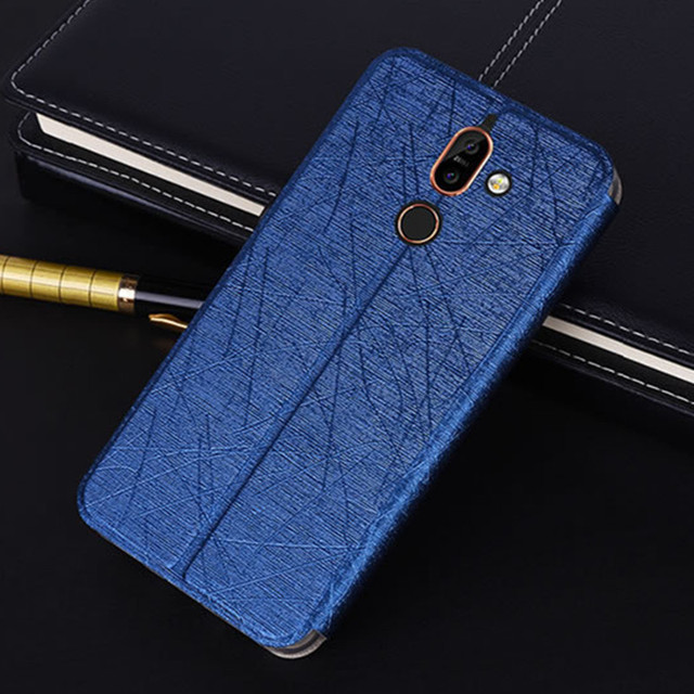 best website ed94b b1f40 US $2.92 10% OFF|TRISEOLY Case For Nokia 7 Plus Simple Luxury Flip PU  Leather Back Cover For Nokia 7 Plus Case-in Flip Cases from Cellphones & ...
