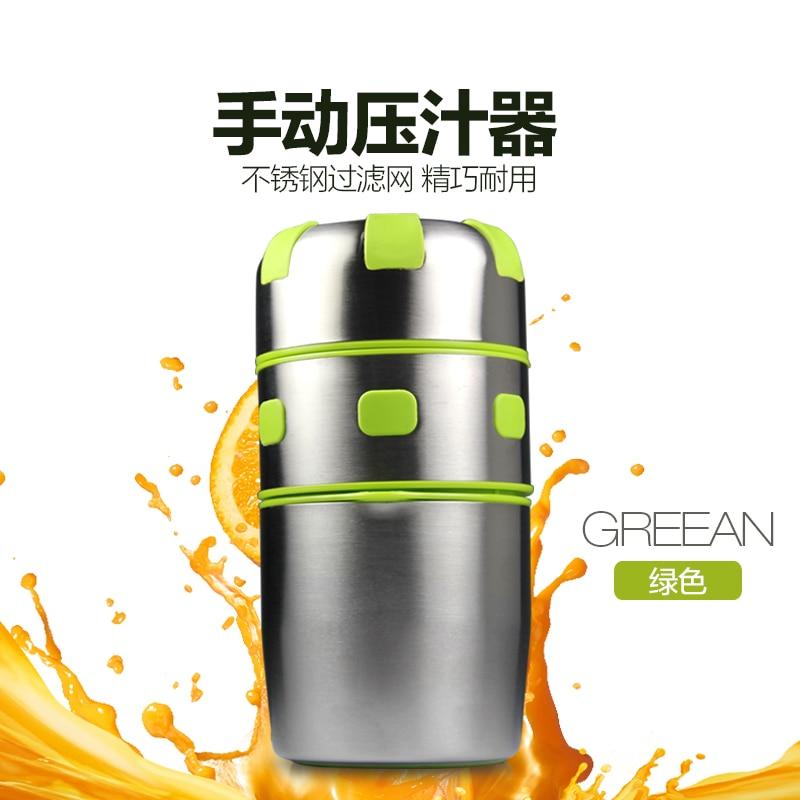 Household multifunctional manual stainless steel Juicer  orange juice juicer healthy mini manual juicer with good price