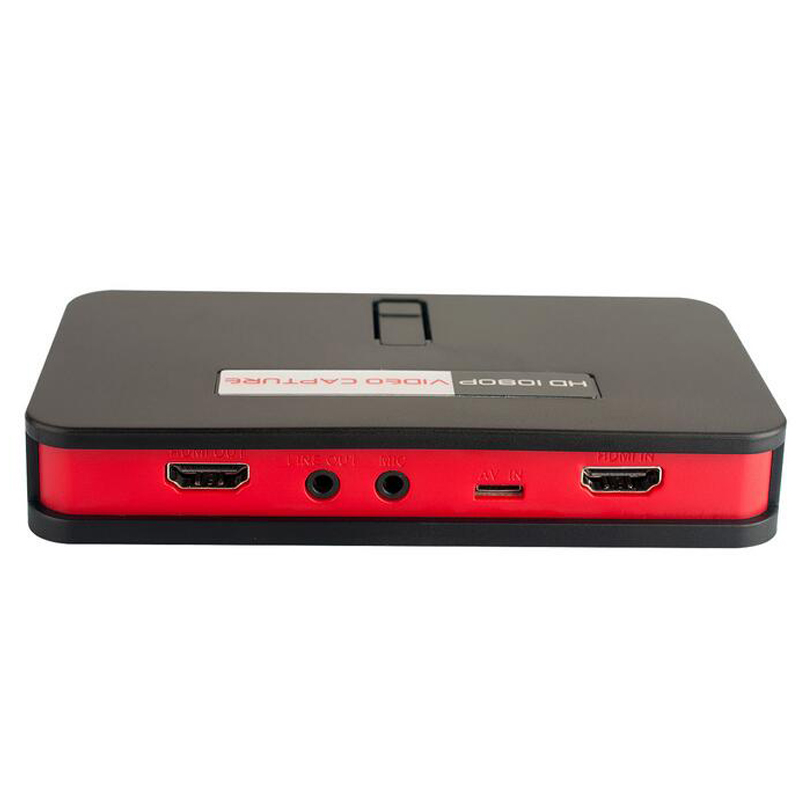 2017 New Video Audio Capture Device Hdmi , HD Game Capture, Convert HDMI YPbPr To USB Driver SD Card Directly, Free Shipping