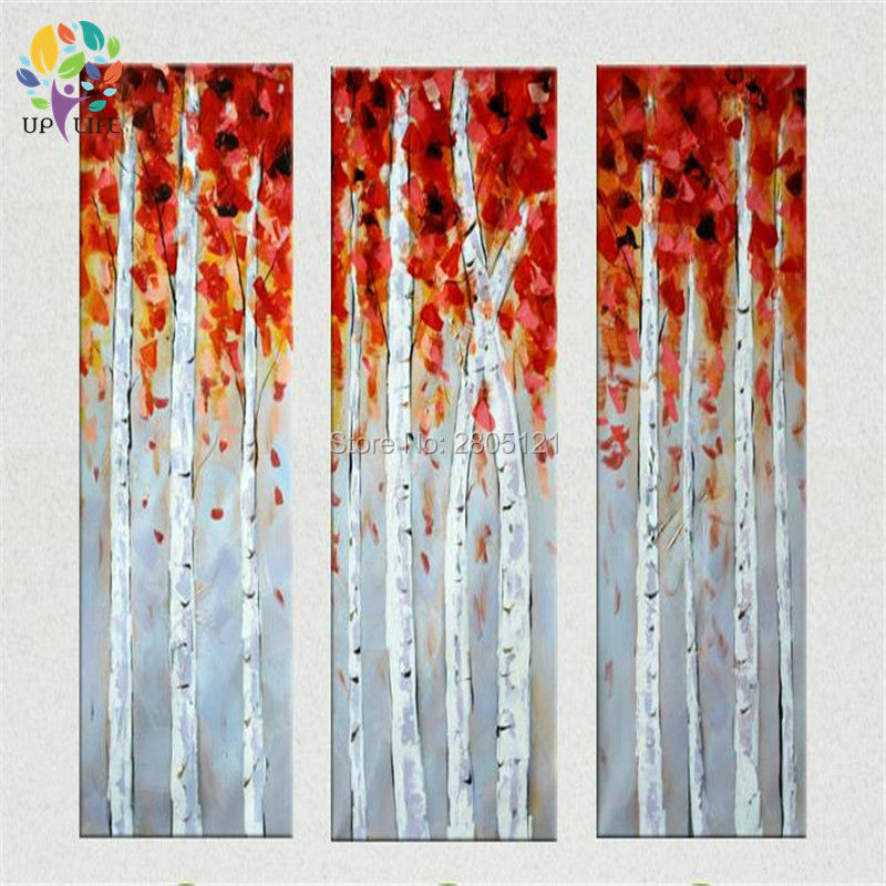 3 Panel Oil Painting Picture Canvas The White Birch Tree Wall Home Decaration Printing On In Calligraphy From