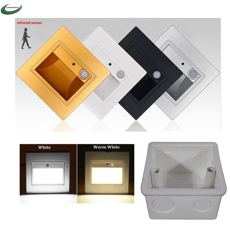 Lighting Basement Washroom Stairs: PIR Motion Detector+ Light Sensor Led Stair Light Infrared
