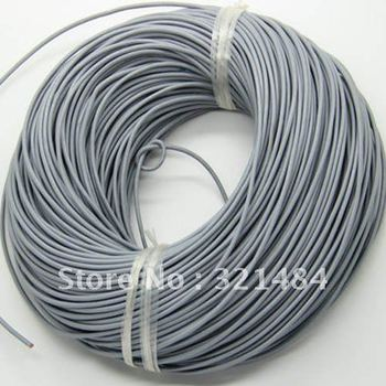 100meter 2mm #22 Silver Grey (more color can pick up ) Jewelry real guniune round leather cord leather rope and string