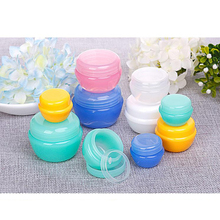 Colorful cream jar mushroom shaped cream sub-bottle 5pcs empty plastic container transparent jar cosmetic sample box