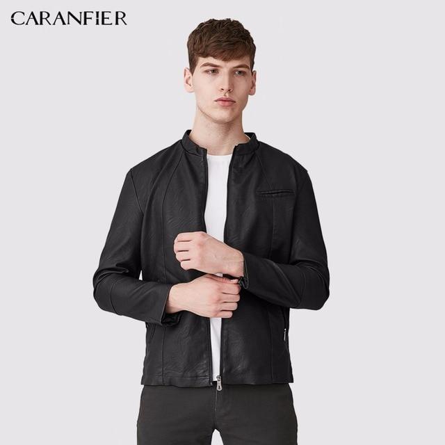 CARANFIER 2017 New Leather Jackets Men High Quality Motorcycle Bomber  Jacket Pilot Leather Male Winter Army Jacket Coat XXXL