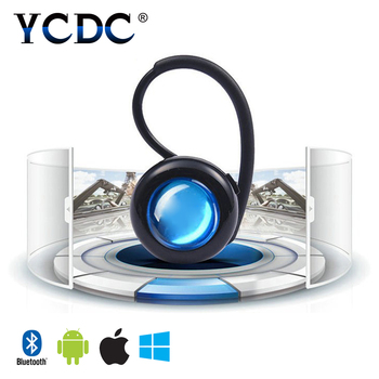 YCDC Wireless Bluetooth Headset for mobile phone Handsfree Compact Design Sports Cycling Stereo With Mic Earphone Black  White