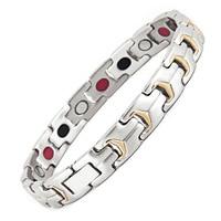 Jewelry Fashion Jewelry Ceramic Magnet Stainless Steel Bracelet Couple Bracelet Health Hand String