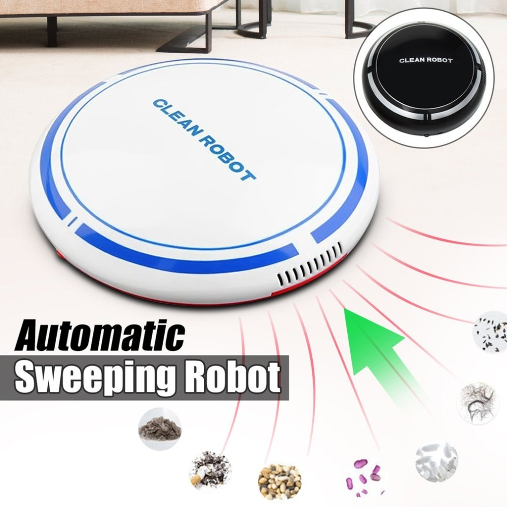 USB Rechargeable Smart Cleaning Robot Household Sweeper Robot Automatic Vacuum Floor Cleaner Sweeping tool Dust Collector ...