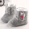 New Arrivel Winter Baby Girls Princess Shoes Prewalker Warm Baby Moccasins Toddler Bebe Crib Snow Knitting Boots First Walkers