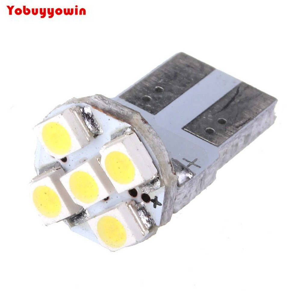10 x T10 W5W 5 LED 1210/3528 SMD Auto Voiture Vehicule Fiala Lampe 194 168 Blanc Pur DC 12 V