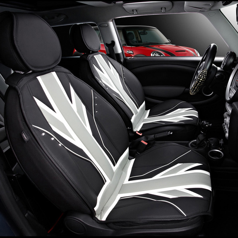 Luxury 3D Ice Slik PVC Leather Car Seat Covers Protection For Mini Cooper One JCW F56 F55 F60 R55 R56 R60 Countryman Car Styling brand new styling luxury leather 5 color 3d car seat covers front