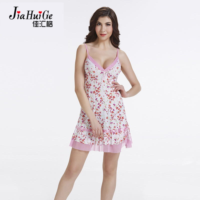 JiaHuiGe Women Sleepwear Summer Nightdress for Sex Women Sleepwear Night Dresses   Nightgown     Sleepshirts   Sleeveless Nightdress
