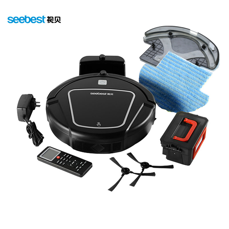 Wet/Dry Robot Vacuum Cleaner with Mopping Function,Time Schedule,Seebest D730 Aspirator Russia Warehouse Clean Robot russia warehouse seebest d720 momo 1 0 intelligent robot vacuum cleaner with big dry mopping time schedule auto recharge