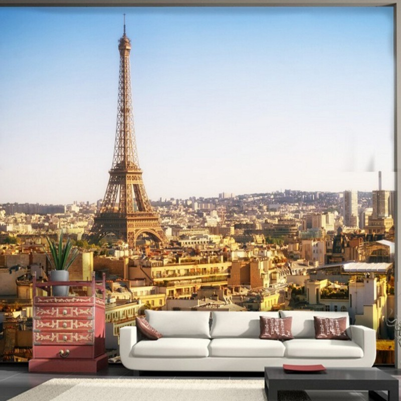 Beibehang Custom Any size wall papers home decor Paris wallpaper ...