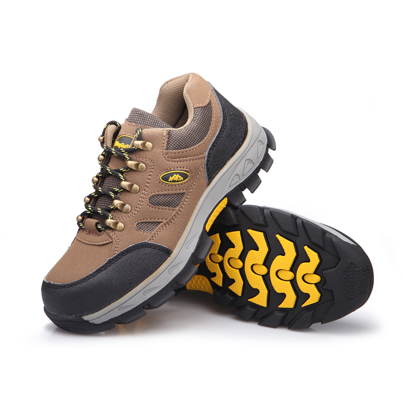 ФОТО fashion large size steel toe cap work safety shoes plate bottom breathable outdoors climb hiking tooling boots soft leather lace