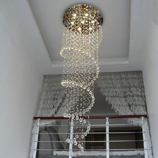 Special Duplex Staircase Lamp K9 Crystal Light Stairs Lamp Chandelier  Crystal Hanging Wire Lighting Ceiling Lamps Living Room L In Chandeliers  From Lights ...