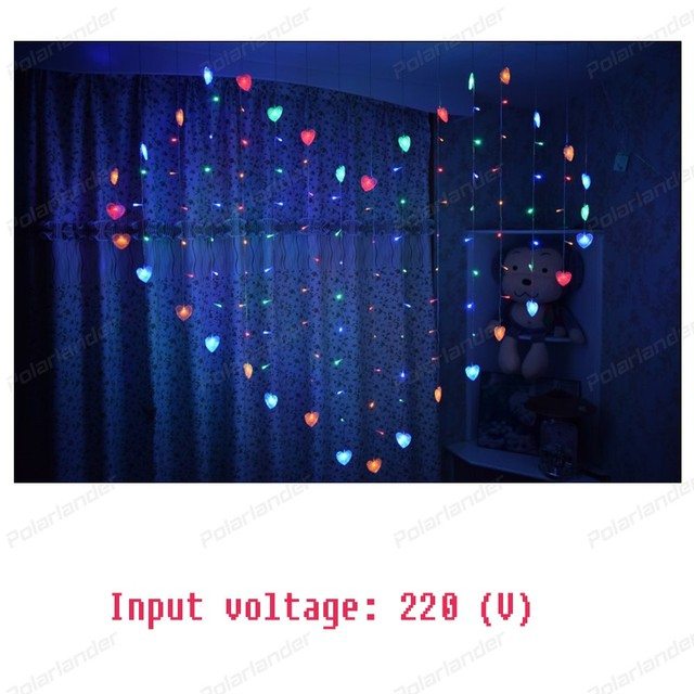Weihnachtsbeleuchtung Romantische warme lichter Herz LED Vorhang ...
