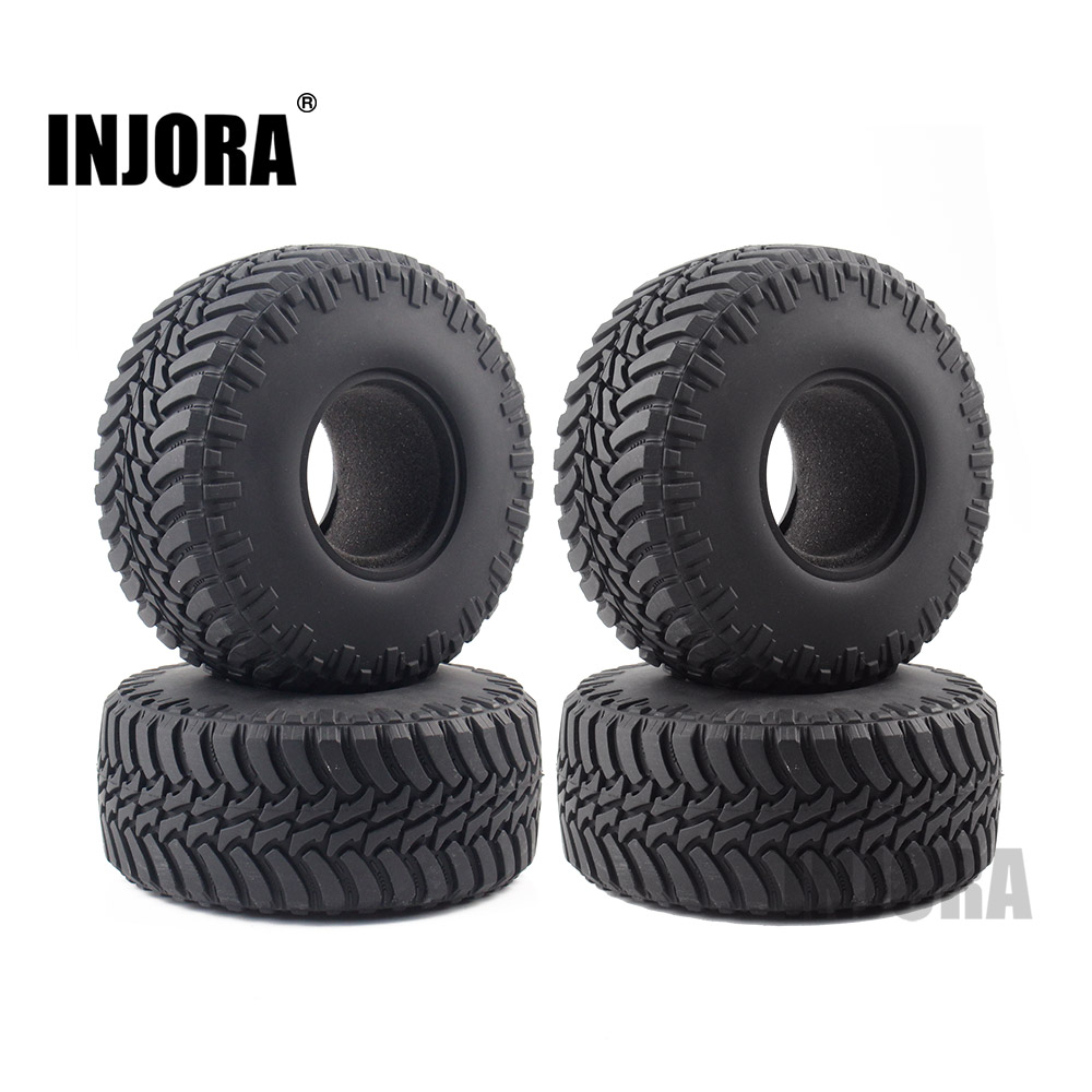 INJORA 4Pcs 2.2 Rubber Tyres Wheel Tires for AXIAL SCX10 RR10 WRAITH 90056 90045 90031 YETI 90026 90025INJORA 4Pcs 2.2 Rubber Tyres Wheel Tires for AXIAL SCX10 RR10 WRAITH 90056 90045 90031 YETI 90026 90025