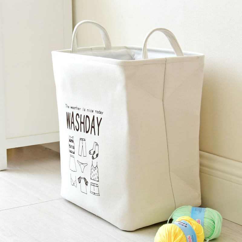 36cm*26cm*40cm Storage Basket Household Dirty Clothing Cotton Linen Storage Bag Toys Put Sundries Home Storage Organization
