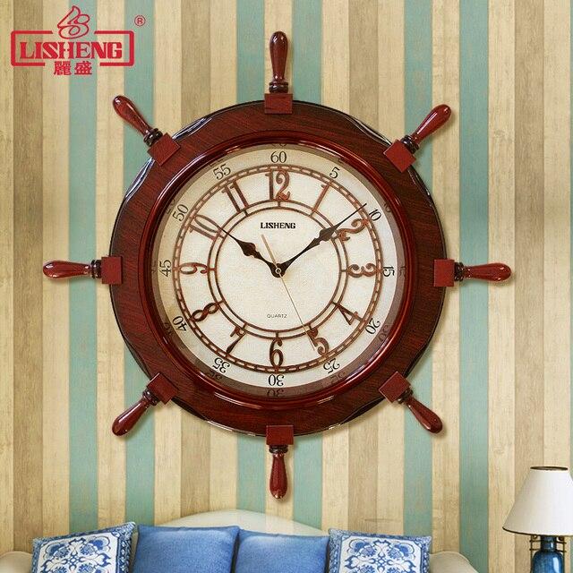 Lisheng Mittelmeer Schiff Der Ruder Uhr Moderne Stumm Kreative