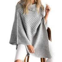 2017, Новая мода Дизайн Стиль шарф Для женщин Высокий воротник пончо для женский хлопок вязаный Scraves нерегулярные зима теплая шаль Накидки
