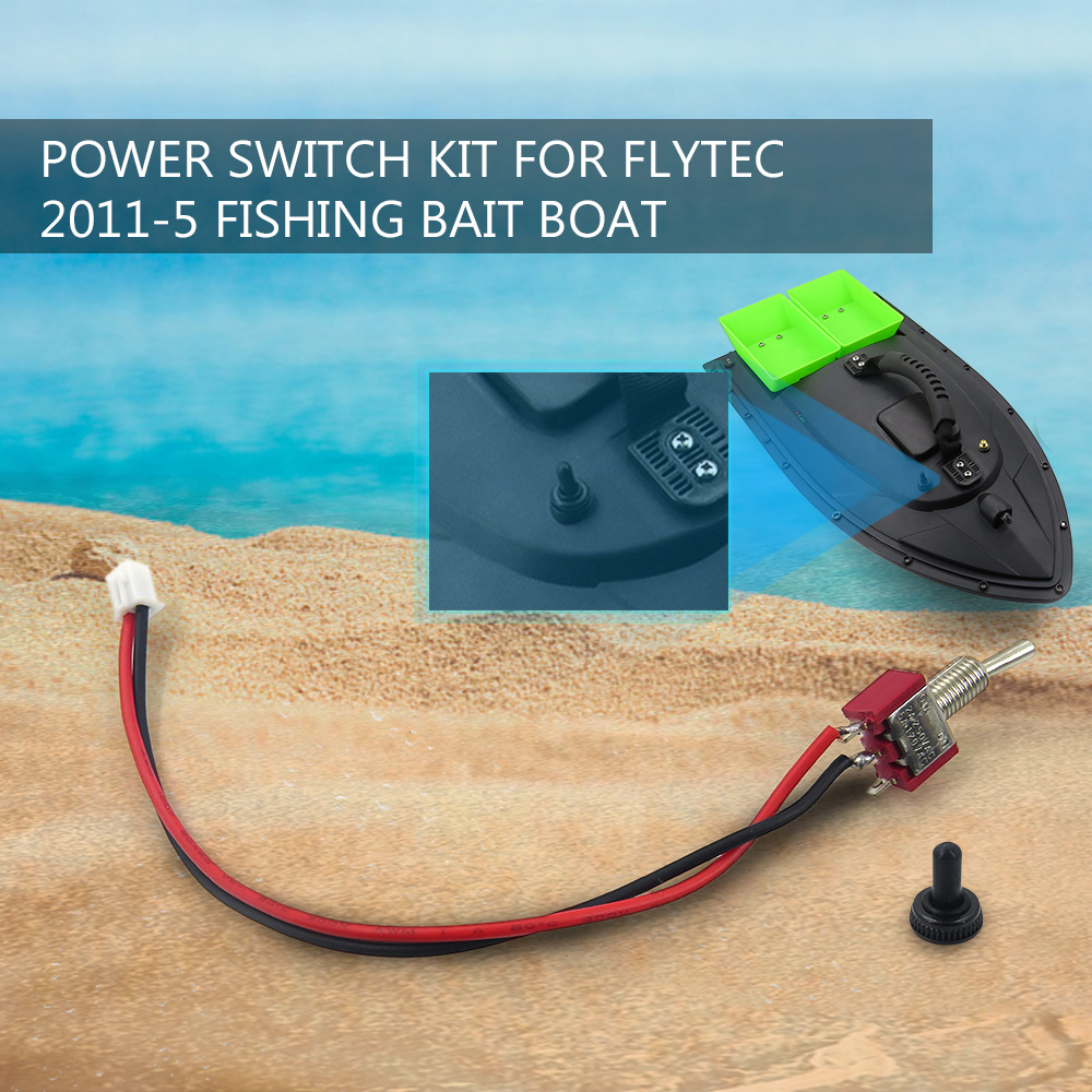 hight resolution of rc boat power switch kit for flytec 2011 5 1 5kg loading remote control fishing bait boat speedboat