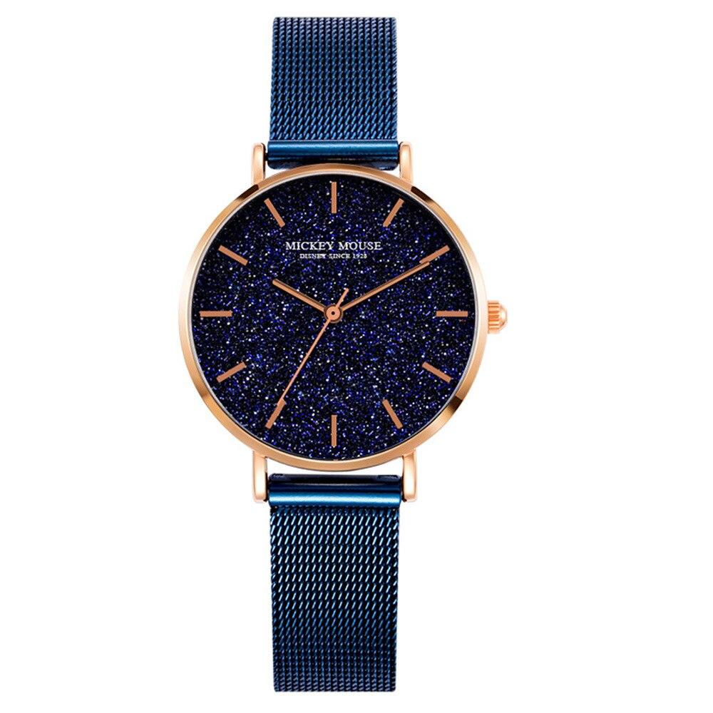 womens stainless steel wristwatches quartz fashion ladies Disney brand Mickey watches waterproof casual clocks Citizen movement цена