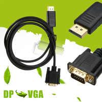 Mayitr 1.8M HDMI DP Maschio A VGA HD-15 Maschio Cavo di 1080p di Alta Qualità Display Port al Convertitore del VGA adattatore Per PC Del Computer Portatile