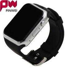 Pinwei smartwatch reloj bluetooth smart watch dispositivos portátiles para el teléfono android con soporte de la cámara tarjeta sim pk dz09 gt08