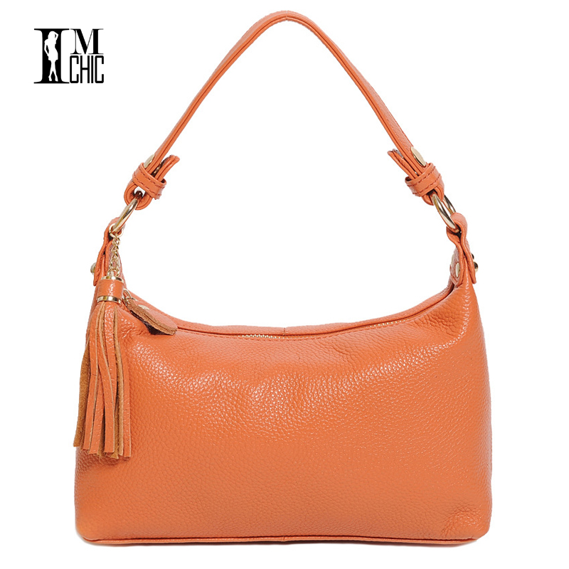 Genuine Leather Cowhide Women Shoulder Bags Tassel Hobo Woman Casual Bag Classic Ladies Handbags bolsas feminina summer Lady1213 retail fashional women leather handbags lady shoulder messenger bags woman tassel ladies hand bag 4 colors