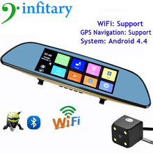 6.86″ Android Car DVR Camera Rearview Mirror Video Recorder GPS Navigation WiFi HD 1080p Night Vision Car DVR