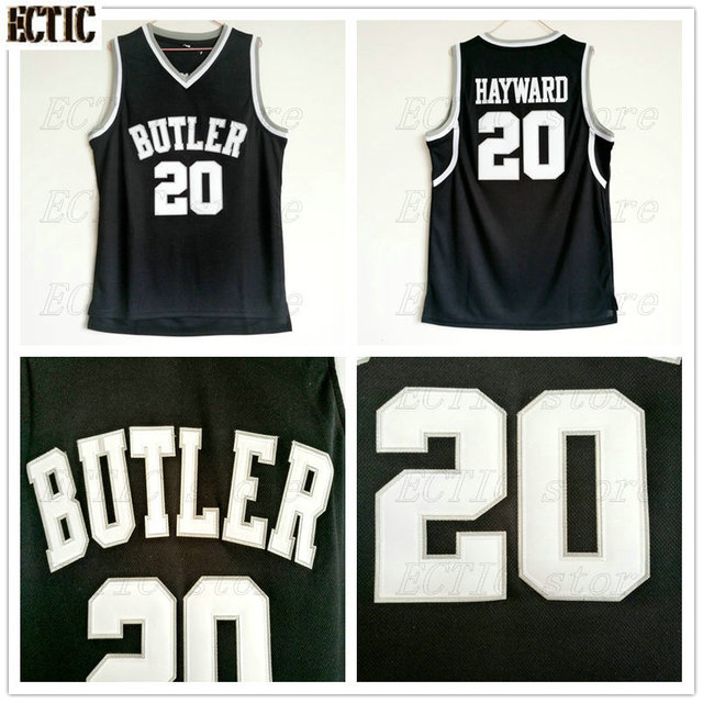 reputable site 7190b 4ea08 2018 ECTIC Mens Butler Bulldogs #20 Gordon Hayward Jersey Black College  Vintage Throwback Basketball Jersey Free Shipping Top-in Basketball Jerseys  ...